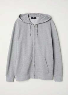H&M H & M - Piqué Hooded Jacket - Gray