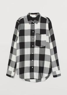 H&M H & M - Plaid Shirt - White