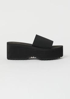 H&M H & M - Platform Pool Shoes - Black