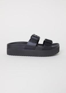 H&M H & M - Platform Sandals - Black