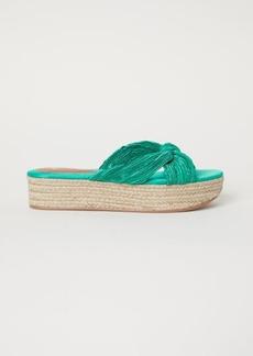 H&M H & M - Platform Sandals - Green