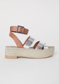 H&M H & M - Platform Sandals - Orange