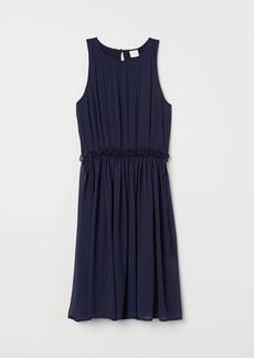 H&M H & M - Pleated Chiffon Dress - Blue