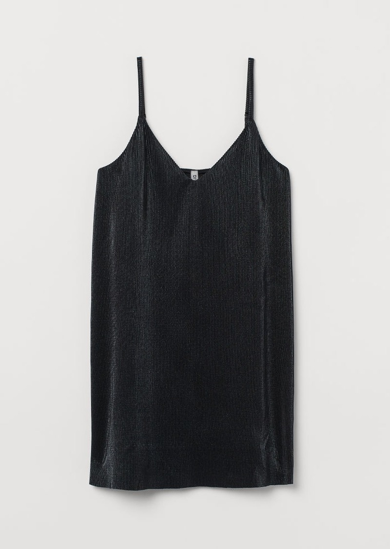 H&M H & M - Pleated Dress - Black