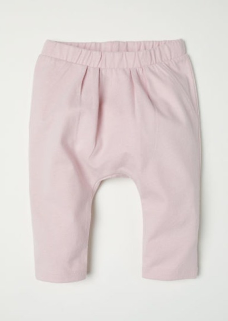 H&M H & M - Pleated-front Cotton Pants - Pink