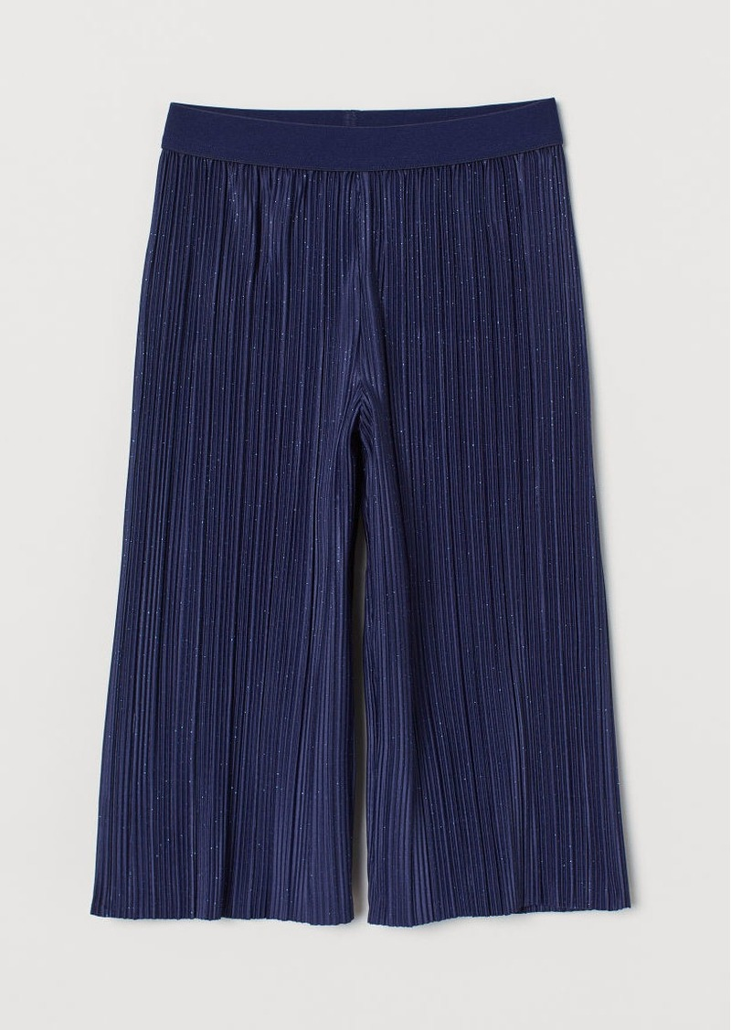 H&M H & M - Pleated Pants - Blue