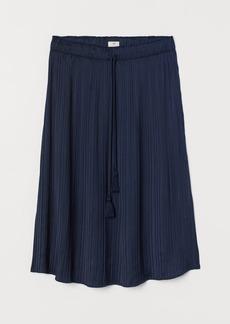 H&M H & M - Pleated Satin Skirt - Blue