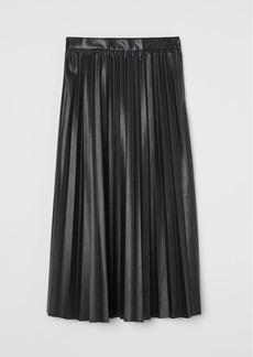 H&M H & M - Pleated Skirt - Black