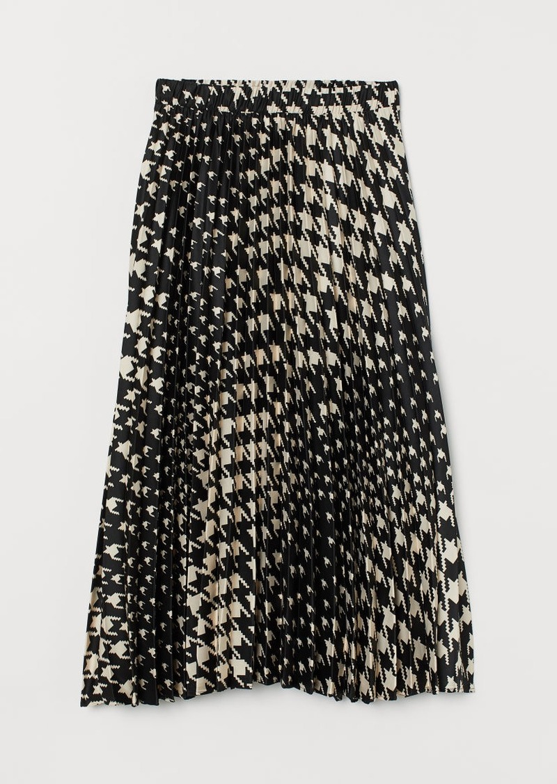 H&M H & M - Pleated Skirt - Black