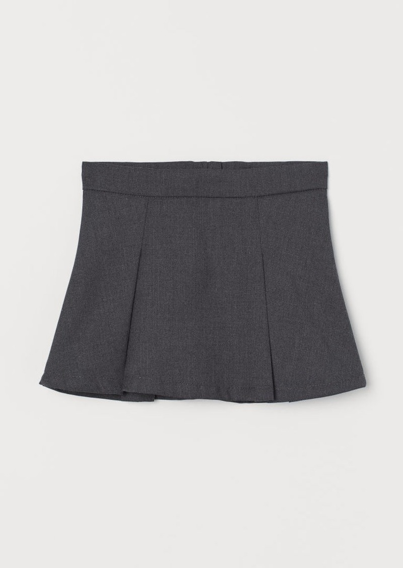 H&M H & M - Pleated Skirt - Gray
