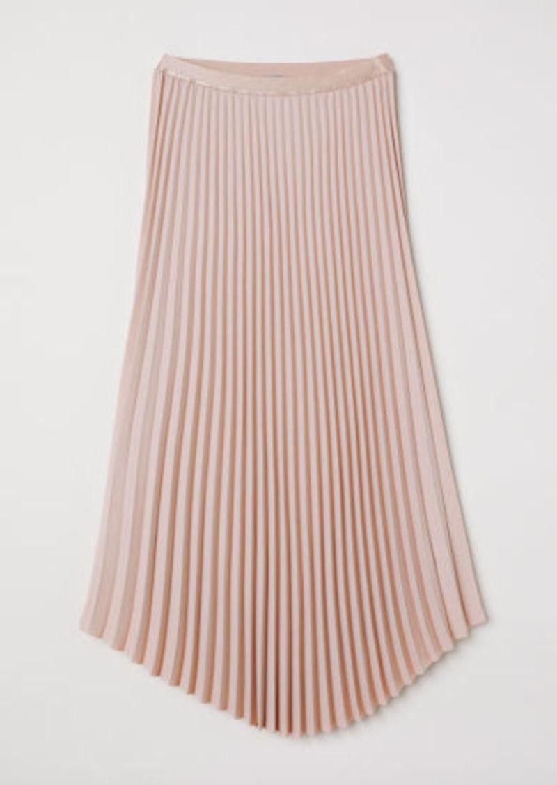 H&M H & M - Pleated Skirt - Orange