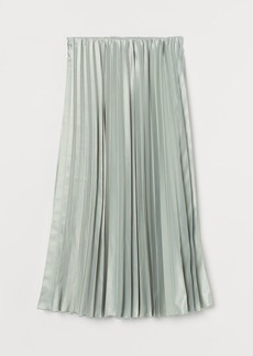 H&M H & M - Pleated Skirt - Turquoise