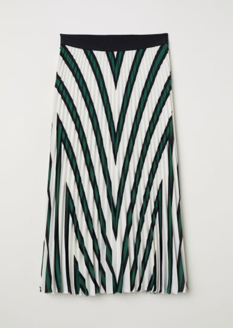 H&M H & M - Pleated Skirt - White