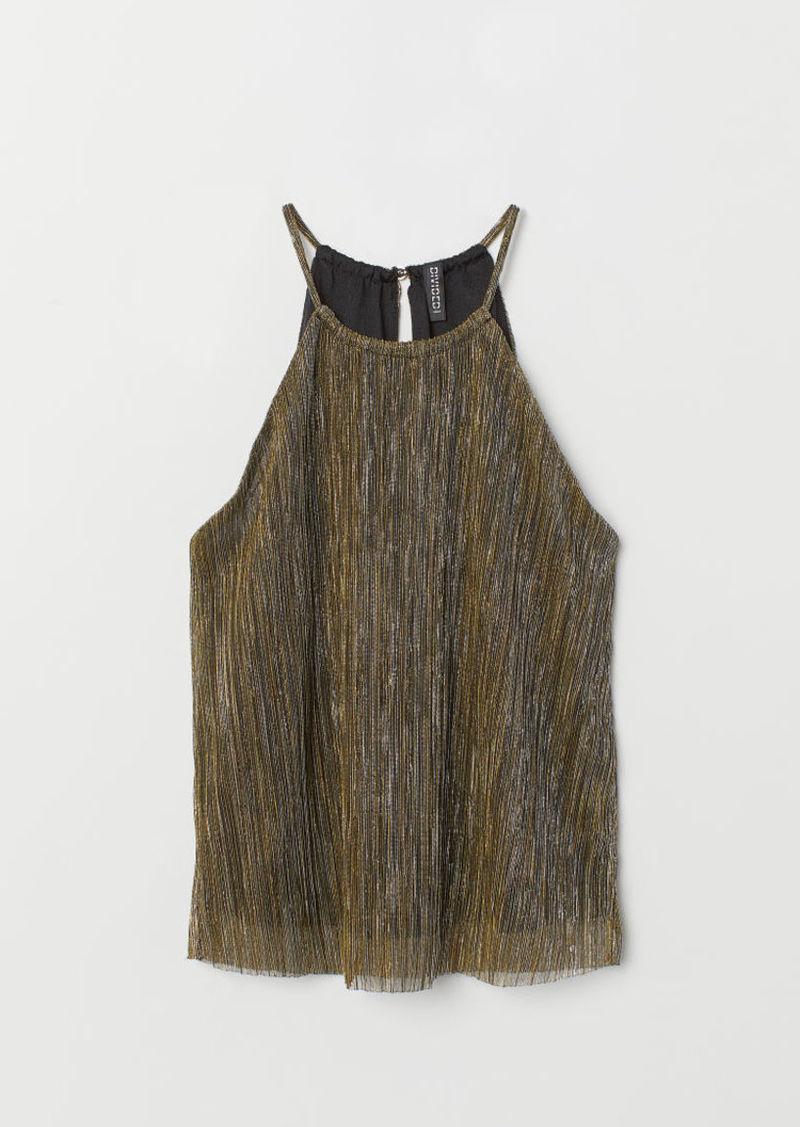 H&M H & M - Pleated Top - Black