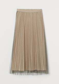 H&M H & M - Pleated Tulle Skirt - Pink