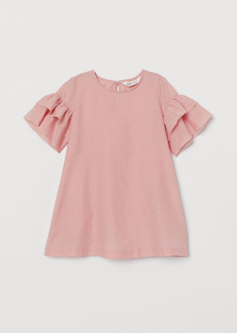 H&M H & M - Plumeti Cotton Dress - Pink