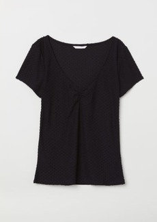 H&M H & M - Plumeti Top - Black