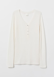 H&M H & M - Pointelle Top - White