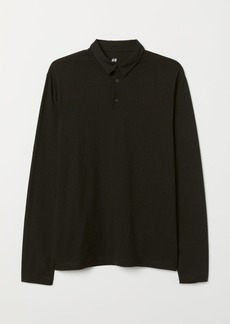 H&M H & M - Long-sleeved Slim Fit Shirt - Black