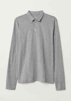H&M H & M - Long-sleeved Slim Fit Shirt - Gray