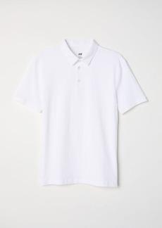H&M H & M - Polo Shirt Slim fit - White