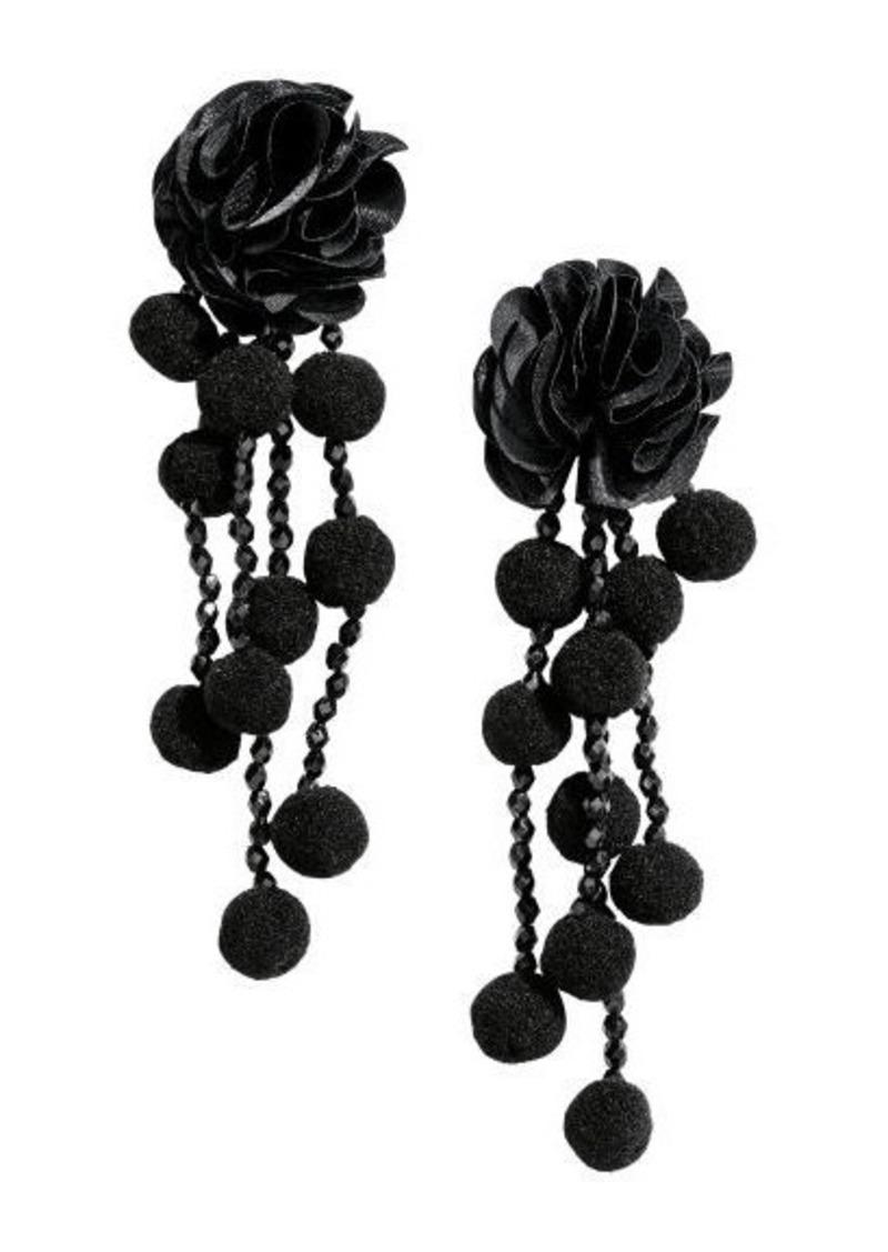 H&M H & M - Pompom Earrings - Black