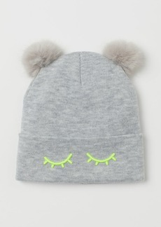 H&M H & M - Pompom Hat - Gray