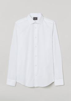 H&M H & M - Premium Cotton Poplin Shirt - White
