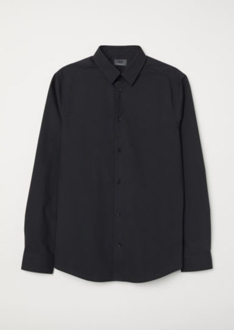 H&M H & M - Premium Cotton Shirt - Black