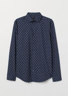 H&M H & M - Premium Cotton Shirt - Blue