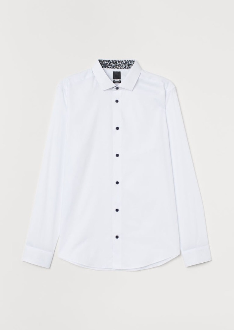 H&M H & M - Premium Cotton Shirt - White