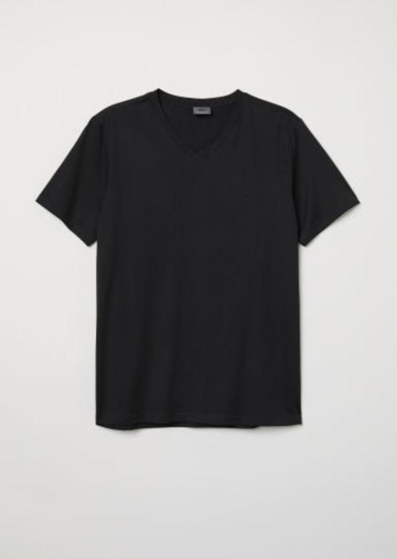 H&M H & M - Premium Cotton T-shirt - Black