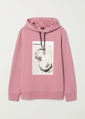 H&M H & M - Printed Hooded Sweatshirt - Pink