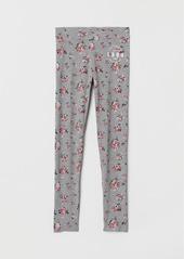 H&M H & M - Printed Jersey Leggings - Gray