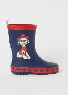 H&M H & M - Printed Rubber Boots - Blue