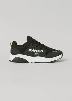 H&M H & M - Printed Sneakers - Black