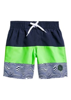 H&M H & M - Printed Swim Shorts - Blue