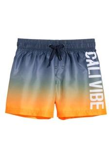 H&M H & M - Printed Swim Shorts - Orange