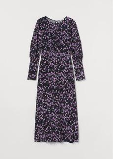 H&M H & M - Puff-sleeved Dress - Black