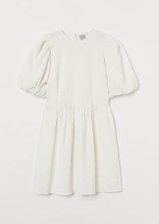 H&M H & M - Puff-sleeved Dress - White