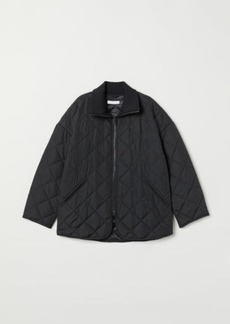 H&M H & M - Quilted Jacket - Black