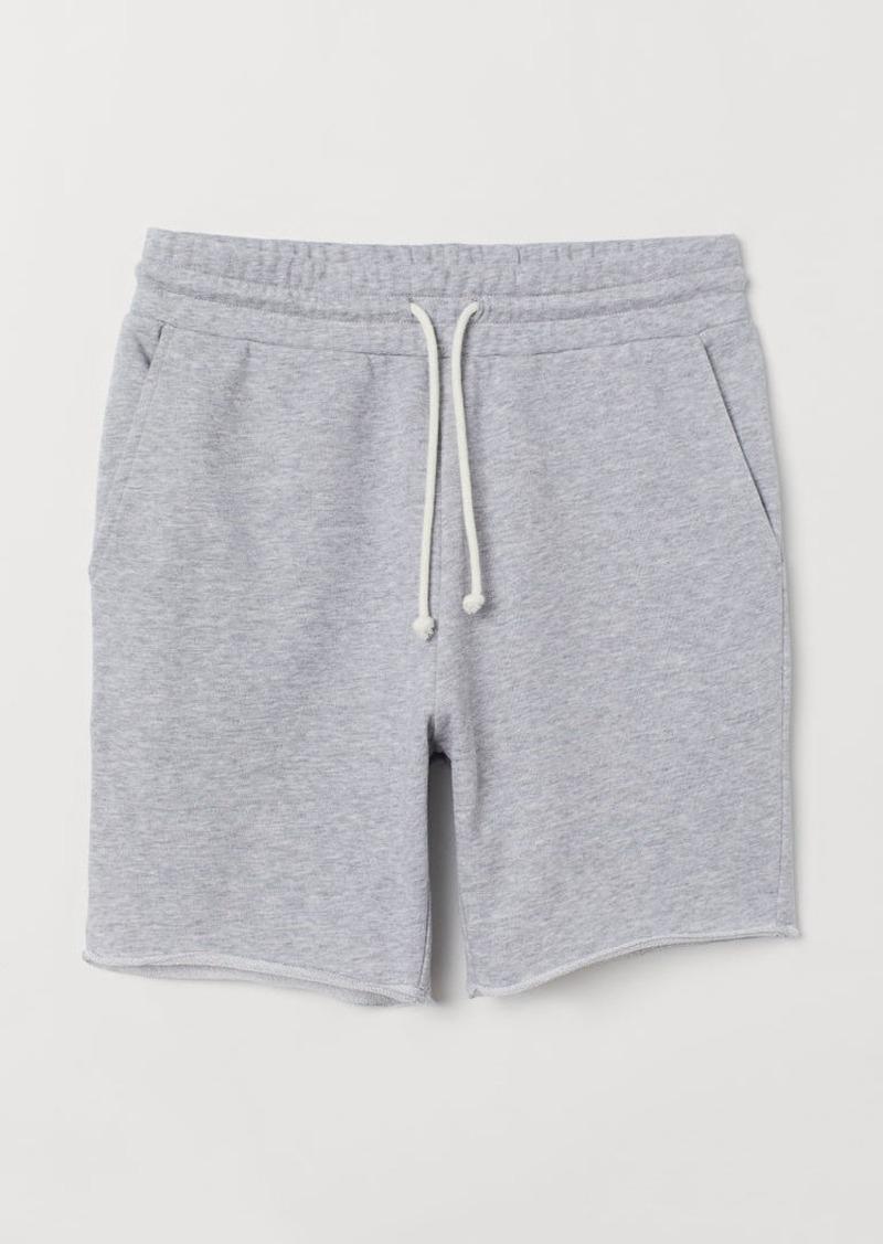 H&M H & M - Sweatshirt shorts Regular Fit - Gray