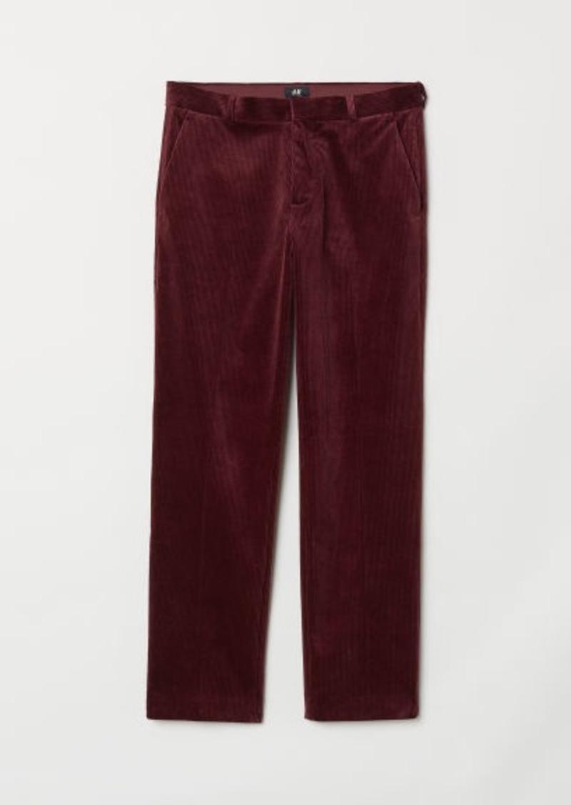 arriving classic shoes famous designer brand H & M - Regular Fit Corduroy Pants - Red