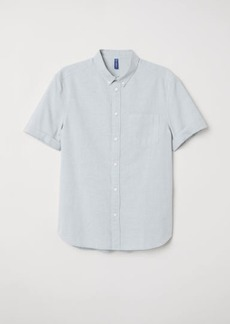 H&M H & M - Regular Fit Cotton Shirt - Blue