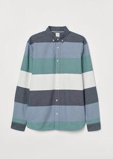 H&M H & M - Regular Fit Cotton Shirt - Green