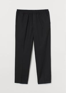 H&M H & M - Regular Fit Cropped Joggers - Black