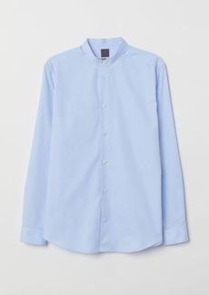 H&M H & M - Regular Fit Henley Shirt - Blue