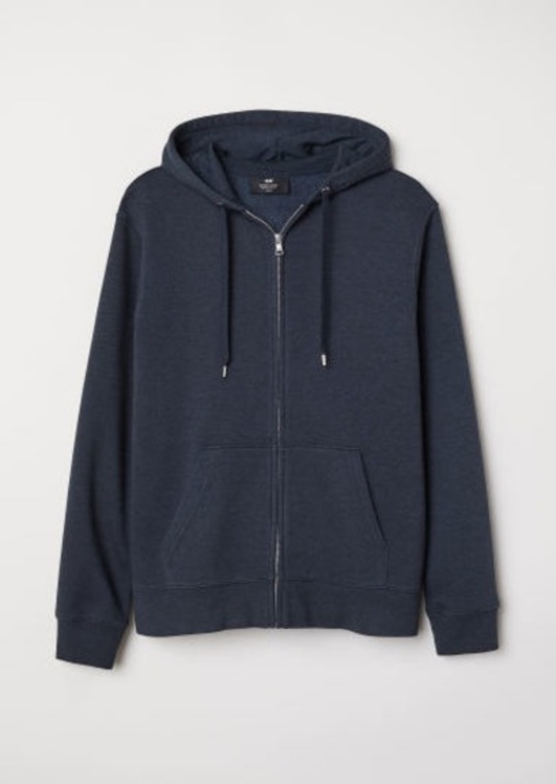 H&M H & M - Regular Fit Hooded Jacket - Blue