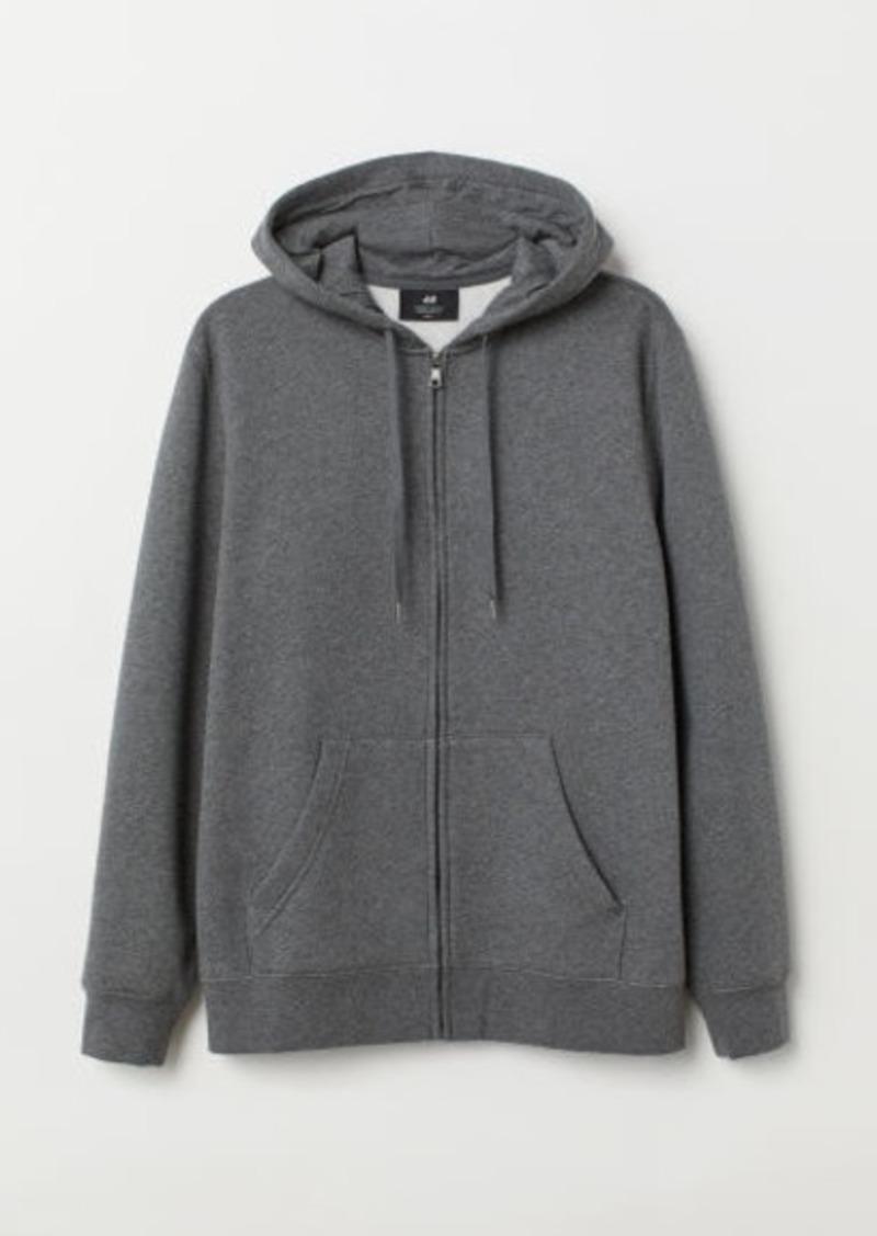 H&M H & M - Regular Fit Hooded Jacket - Gray
