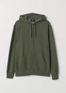 H&M H & M - Regular Fit Hooded Jacket - Green